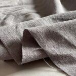 Эко-Ткань крапива вареная Рами серый ramie fabrics