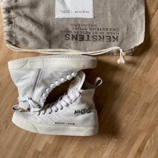 конопляные кеды hemp sneakers kerstens olga designer