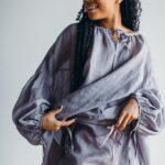 Батистовое платье рубашка из крапивы Kerstens Olga