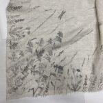 Шаль Платок льняной с росписью Olga Kerstens