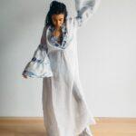 Льняное платье конопляные кеды Kerstens olga