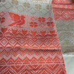 Рушник льняной С красным орнаментом