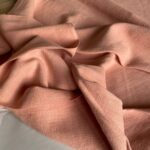 Ткань у из крапивы ramie цвет Пудровый