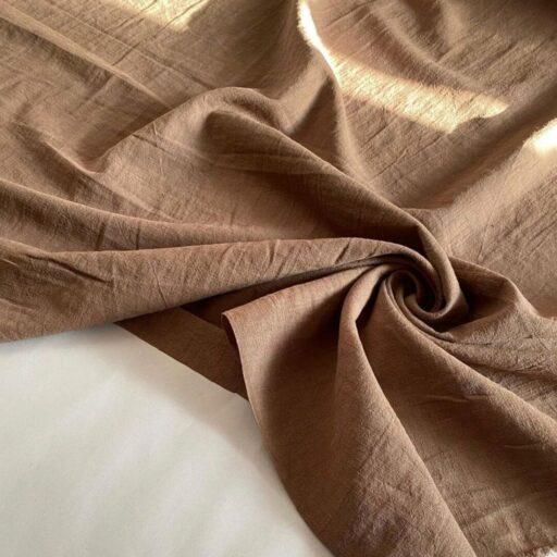 Ткань у из крапивы ramie цвет Глина