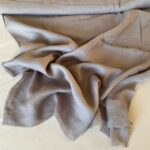Эко-ткань из крапивы Батист серый nettles fabrics