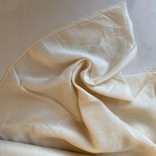 Эко-ткань из крапивы Батист белый nettle fabrics