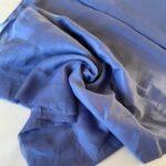 Эко-ткань из крапивы Батист синий nettle fabrics
