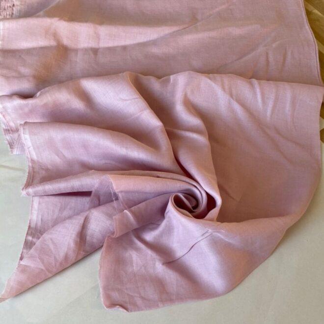 Эко-ткань из крапивы Батист розовый nettle fabrics