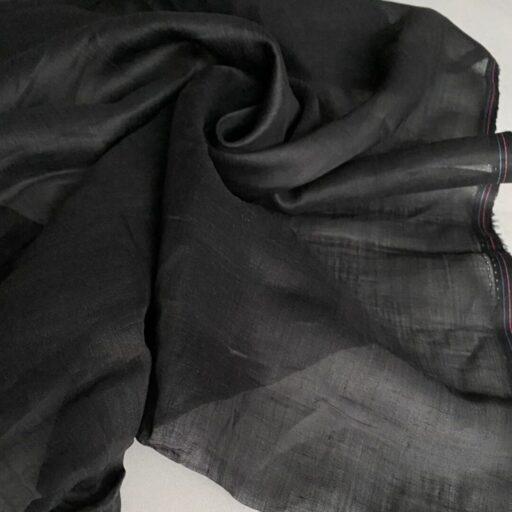 Эко-ткань из крапивы Батист чёрный nettle fabrics