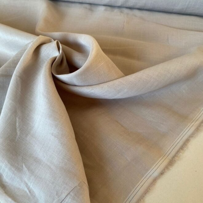Эко-ткань из крапивы Батист серый nettle fabrics