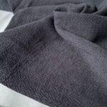Ткань из крапивы ramie черный