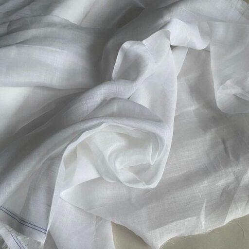 Эко-ткань из крапивы Батист белый nettle