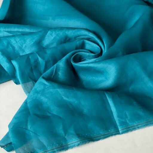 ткань из крапивы купить Батист бирюзовый nettle fabrics