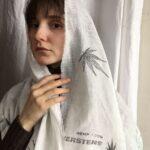 Шарф из конопляной вуали купить конопля вуаль ткань