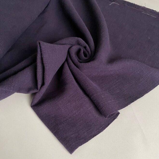 Льняная Ткань фиолетовый купить Лен с хлопком