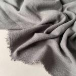 Льняная Ткань серый купить Лен с хлопком