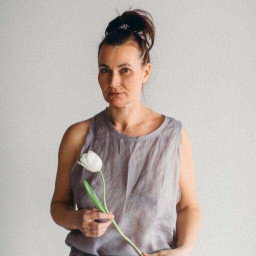 майка из батиста крапива тюльпан