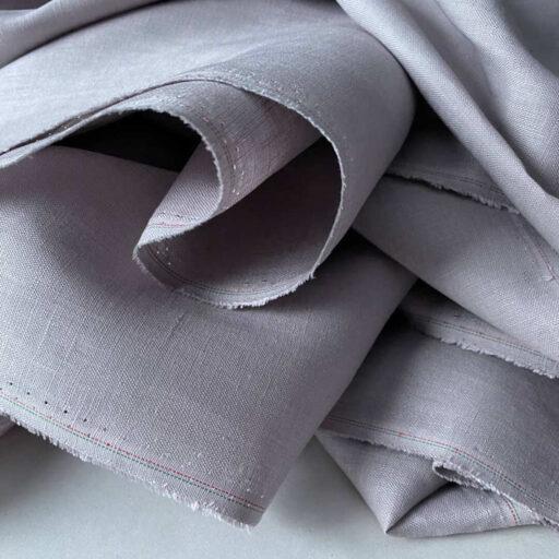 Льняная плательная ткань премиум Лен Французский лен Ткань