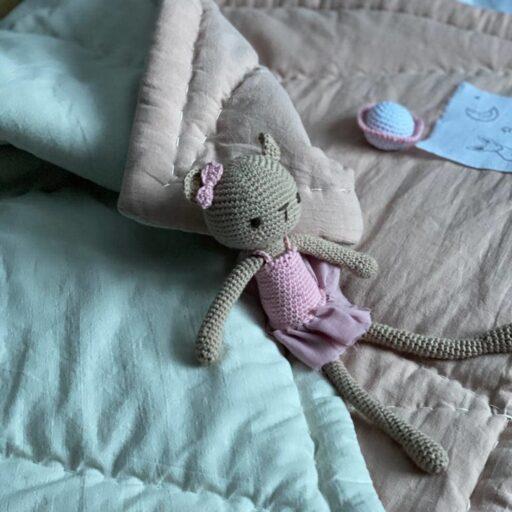 купить детское конопляное одеяло мишка амигуруми