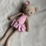 игрушки вязанные крючком розовый мишка