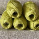 натуральная пряжа салатовый цвет крапива nettle