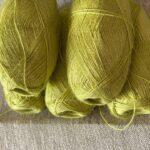 крапивная пряжа салатовый цвет