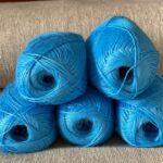 Пряжа для вязания цвет синий