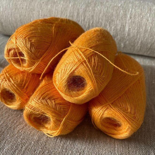 пряжа для вязания цвет желтый