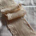 вязаное кружево из льна