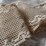 вязаное льняное кружево