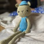 knitted amigurumi bear