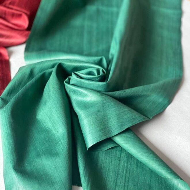 зеленый шелк