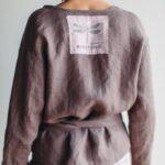 женский костюм из льна