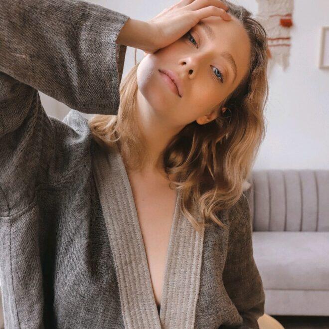 кимоно из льна