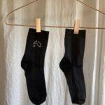 носки из конопли черного цвета