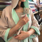 халат муслин игрушка вязанная мишка