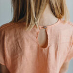 платье розового цвета для девочки из льна