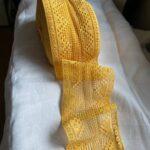 хлопковое кружево желтого цвета