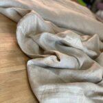 конопляная ткань в елочку
