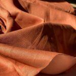 конопляная ткань цвет терракота
