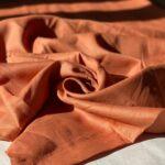 терракотовая ткань из конопли