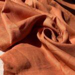 терракотовая конопляная ткань