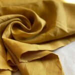 конопляная ткань цвет горчица