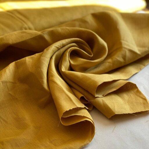 конопляная ткань горчичного цвета