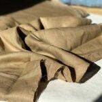 песочная конопляная ткань
