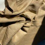 светло-бежевая ткань из конопли