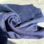 ткань из конопли темно-синяя