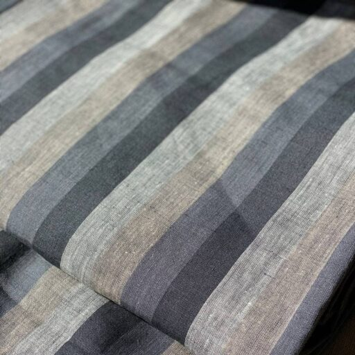 hemp striped fabric