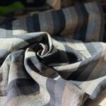 natural striped fabric