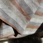 конопляная ткань в полоску